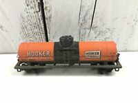 Tyco Ho #56655 Hooker Chemical Tank Car Sprung Trucks Weathered