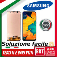 DISPLAY LCD+TOUCH SCREEN per SAMSUNG GALAXY A30S SM-A307 SM-A307F SCHERMO VETRO!