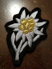 WWI WW2 German Elite hand embroidered sewn Edelweiss patch