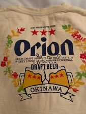 Orion Beer T-shirt Size M/Sm. ? From Okinawa