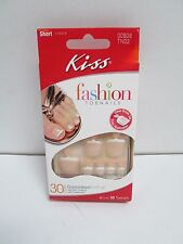 KISS FRENCH GLUE ON TOE NAILS SHORT LENGTH 30 CT 00808 TN02 BAHAMAS TOENALS