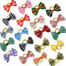 50/100pcs Cute Grid Puppy Pet Dog Hair Bows Grooming Accessories for Yorkie Cat
