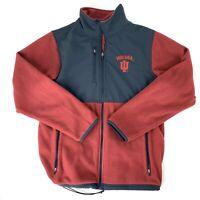 Indiana University Hoosiers Mens Medium Red/Black Fleece Jacket Colorblock