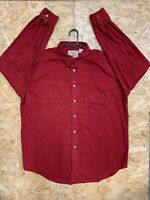 Vintage Levi's Red Tab Jeanswear Red Button Up Long Sleeve Shirt XL Thick Cotton