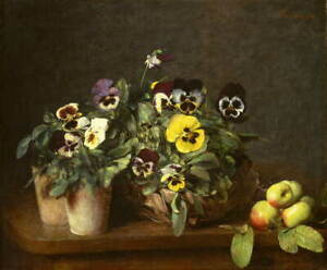 Henri Fantin Latour Still Life with Pansies Giclee Paper Print Poster