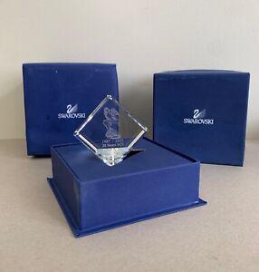 Swarovski Desk Paperweight Presse Papier Lovebirds