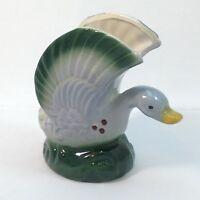 "Mid Century Green Mallard Duck Indoor Planter Vintage Collectible 5.25"" McCoy?"