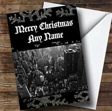 New York America Personalised Christmas Greetings Card