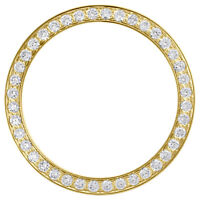 Solid Yellow Gold Diamond Bezel For 26mm Rolex DateJust President Watch 0.80 CT.