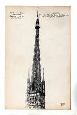 Cathedral Spire - Rouen Photo Postcard c1908