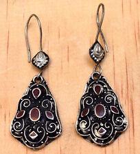 Black Afghan Kuchi Earrings Ethnic Tribal Gypsy Bohemian Carved Boho Jewelry