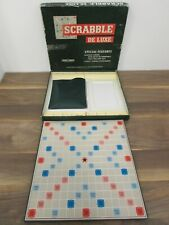 Vintage 1973 Spears Games Scrabble De Luxe Board Game with Turntable Incomplete