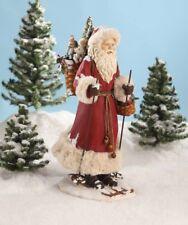 """Bethany Lowe Designs Christmas """"Father Christmas On Ski's"""" LC6441"""