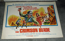 THE SCARLET/CRIMSON BLADE original ROLLED 22x28 movie poster OLIVER REED