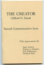 Fiction: THE CREATOR by Clifford Simak. 1981. Signed commemorative from Worldcon