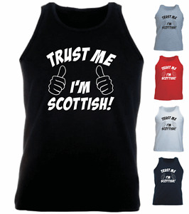 Trust Me I'm Scottish Scotland Funny New Present Gift Athletic Vest Top