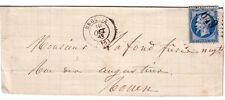 EURE - BROGLIE 30 OCTOBRE 1863 N°22 OBLITERATION GC649 - SANS TEXTE.