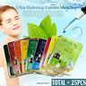25pcs Korean Essence Facial Mask Sheet, Moisture Face Mask Pack Skin Care Lots