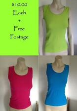 Tank, Cami Solid Regular Size Sleeveless Tops for Women