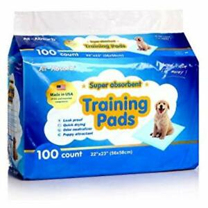 All Absorb Training Puppy Pad Sheet Urine Pee Dogs Leak 22 Inch By 23 Medium 100