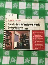 Insulating Window Shades by Ray Wolf (Rodale Plans)
