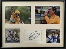More details for signed framed bradley wiggins autograph montage tour de france olympic gold