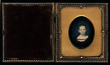 1/6 CH Williamson Tinted Daguerreotype of Cute Little Girl ~ Brooklyn New York