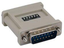 PTC HD15 VGA Monitor Female to DB15 MAC Male Converter Adapter 6-DIP Switch