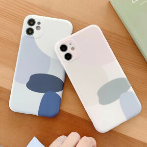 Art Geometry Abstract Soft Phone Cover Case For iPhone 12 Mini 11 Pro Max XR X 8