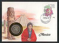 Numisbrief Mexico Mexiko 1 un Peso 1981 Stempel 1984 NB-A6/20