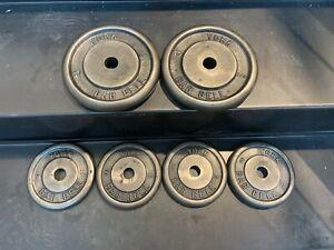 "2 x 10lbs & 4 x 5lbs 1"" hole YORK Standard Weight Plates"