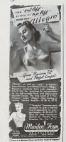 1940 Vintage Maidenform Womens Allegro Bra Foundations Ad