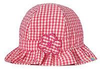 Baby Girls Gingham Sun Hat Pink & White Daisy Summer Cotton Bucket Frill Cap