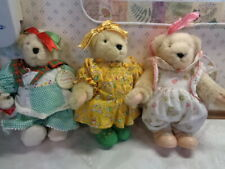 Three Cute Muffy Vanderbear Bears In Cute Outfits Some Tlc Lot 2