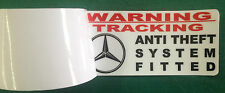 WARNING THEFT STICKER TRACKER MERCEDES TRACKER ANTI THEFT INSIDE WINDOW X2