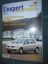 Renault CLIO Campus depuis 06/2006 : revue technique rta EA 482