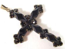 Religiöse Modeschmuck-Halsketten & -Anhänger aus Strass Kreuz