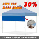 10x10FT Drop Down Awning For EZ Pop Up Sun Shade Canopy Outdoor Gazebo Tent