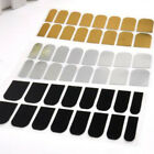 16PC Smooth Foil Armour Nail Art Sticker Cool Wraps Decoration Gold/Silver/Black