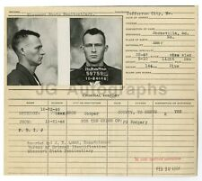 Police Booking Sheet - Forgery - Jefferson City, Missouri, 1946