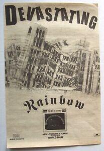 RAINBOW 1977 original POSTER ADVERT ON STAGE Ritchie Blackmore Deep Purple