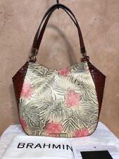 NWT $355 Brahmin Marianna Pecan Amina Leather Tote Shoulder Bag