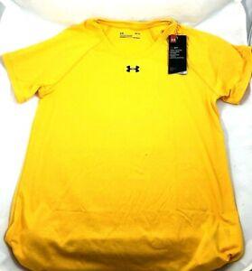 Under Armour Women's Locker Short Sleeve T Shirt  1268481- Yellow - Size Med.