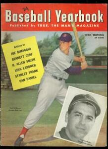 BASEBALL YEARBOOK #1-1950-TED WILLIAMS COVER-FAWCETT FN