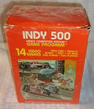 Atari 2600 Indy 500 Game with 2 Controllers Game Sealed in Box with Manual!!