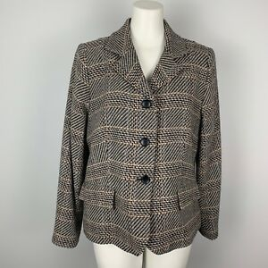 Pendleton Women's 3 Button Blazer Suit Jacket 100% Wool Plaid Women's Size 14