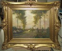 "William J. Kaula Stunning 1902 Exhibited WC ""Crecy-En Brie"" Listed Boston Artist"