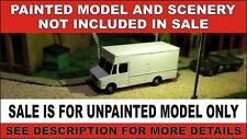 N scale delivery step van truck 1:160 railroad vehicle free decals unpainted