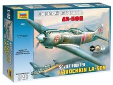 ZVEZDA 4801 SOVIET FIGHTER LAVOCHKIN LA-5FN SCALE MODEL KIT 1/48 NEW WWII
