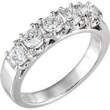 5 Diamond Wedding Ring Anniversary Band 0.22 ct each F VS/SI1 1.10 tcw